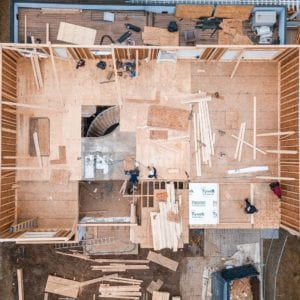 mid construction of a new custom home