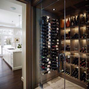 home wine room in niagara
